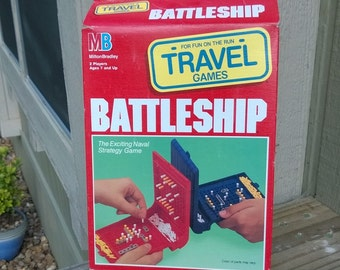 Vintage Battleship Travel Game 1989 Milton Bradley