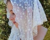 Ivory Lace Chapel Veil , Prod.#ZI03