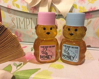Baby Shower Honey Bear Favors Pink and Blue