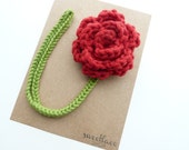 Red Pacifier Clip--Crochet Flower pacifier clip--Baby Girl accessories--MAM adapter--Sweetlace Shop