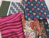 Lot of 4 Handmade Pocket Squares Scarves