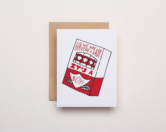 It's A Boy - Baby Announcement Letterpress Card