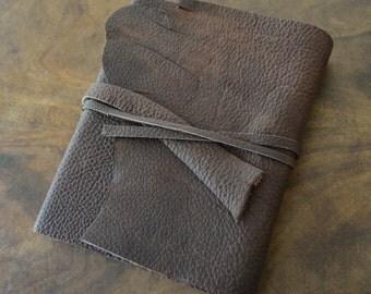 Custom Order Leather Journal Bound Bull Hide Diary Handmade (427C)