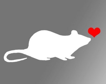 Rat w/ Heart Decal