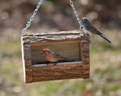 Natural Log Birdfeeder
