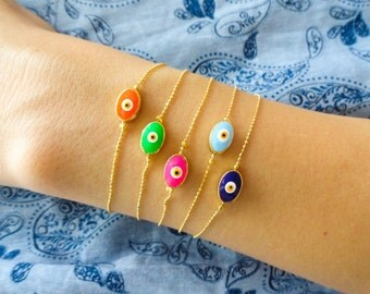 Evil eye bracelet neon evil eye jewery summer accessories theme birthday goodie bag gift idea for girls bachelor party