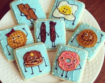 Breakfast Cookies / Brunch Dessert / Sugar Cookies with Buttercream Frosting