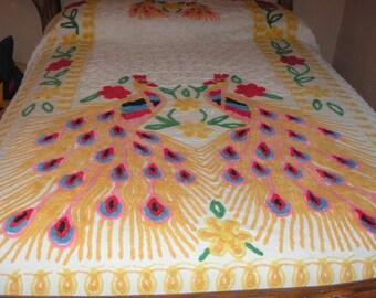 CUTTER  CHENILLE PEACOCK Bedspread