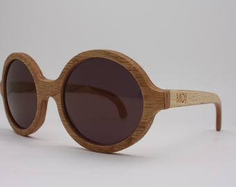 Wood sunglasses - Oak natural