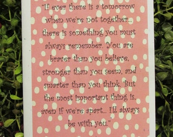 Tomorrow Not Together Missing You Greeting Card - FREE SHIPPING