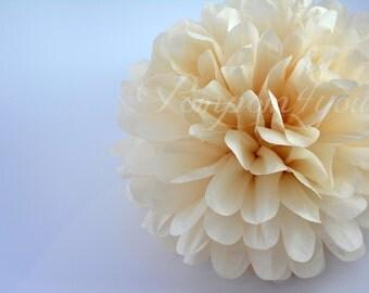 One Khaki Tissue paper Pom Poms // Wedding Decorations // Party Decorations // Paper Pom Poms