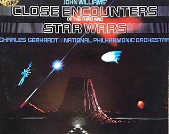 Close Encounters of the Third Kind Vintage Vinyl Record Album LP Soundtrack to the Movie 1977