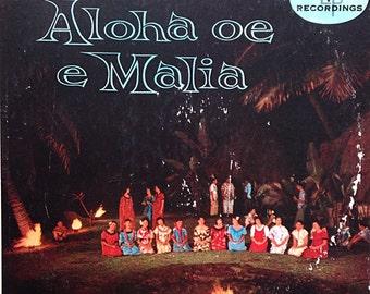 Vintage Hawaiian Record Aloha Oe E Malia Luau Music Tiki 1950s