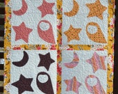 Owl Under Moon and Stars Quilt Pattern PDF- Two Patterns in One- Applique the Easy Way Directions