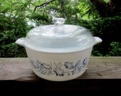 pyrex colonial mist covered casserole