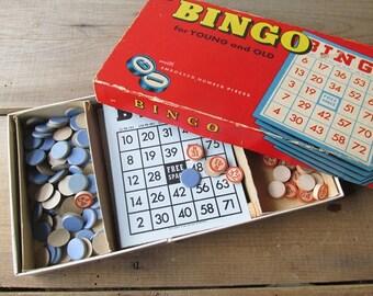 Bingo Game Vintage Whitman Bingo Cards and Game Pieces