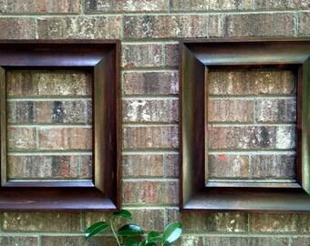 Solid Wood Frame, Rustic Frame, Rustic Mirror Set, Wood Picture Frames, Frame Set