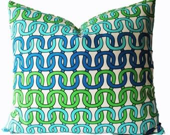 Decorative Designer Trina Turk Loop Outdoor Pillow Cover, 18x18, 20x20, 22x22 or Lumbar Throw Pillow