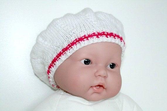 chapeau de b b fille b b blanc bonnet tricot b b fille. Black Bedroom Furniture Sets. Home Design Ideas