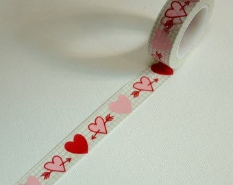 1 Roll of Japanese Washi Tape Roll- Shooting to Your Hearts