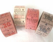 20 Vintage British Bus Tickets - Pick Your Combo -  Mauve, White, Pink and Lavender UK Transportation Tickets - English Ticket Mix
