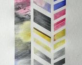 Large Original Watercolor - Color Study No. 006