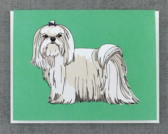 Maltese Dog Note Card Stationery