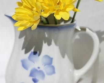 "Arabia Finland flower milk pitcher ""Nina"""