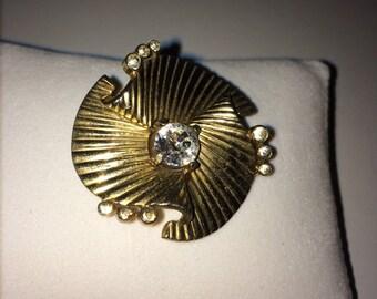 Vintage jewelry 30s art deco Mazer brooch