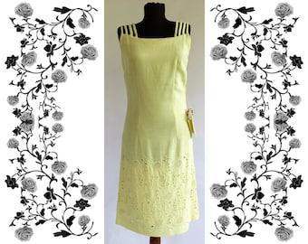 "1950's Vintage Deadstock NOS ""Rubin Moden"" Embroidered Dress"