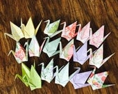 "100 pastel pattern 6"" origami cranes, wedding, party decoration, ornament, birthday, garland, gift"