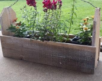 Distressed wood flower or gardener box