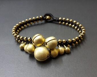 Jingling Brass Bracelet