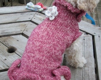 Custom Knit Dog Dress - SMALL