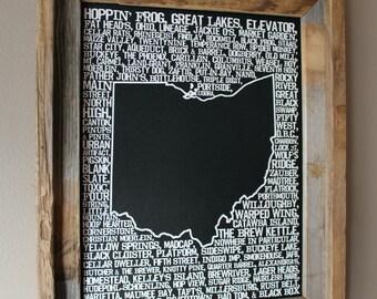 Beers of Ohio Word Map (Black)