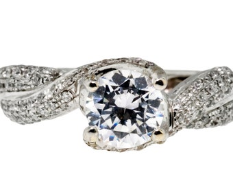 Beautiful One of a Kind White Gold and Diamonds Engagement Ring 100-00067
