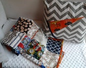 Baseball Baby Boy Quilt and Pillow, Baseball Crib Quilt and Pillow, Baseball Nursery Bedding, Baby Boy Nursery Bedding