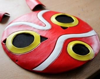 Princess Mononoke Leather Mask - Made To Order