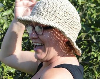S/M/L/XL/XXL Crochet Hemp Hat Short Brim Hat,Women Summer Fashion Hat 2016, Summer Hat Women's,Natural Hemp Hat #1~~