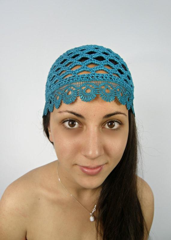 summer beanie hat teal crochet hat summer skull by