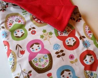 Matryoshka Russian Doll Baby Toddler Blanket for stroller or sofa