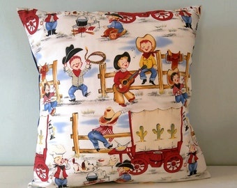 Cowboy Wild West western pillow / cushion cover