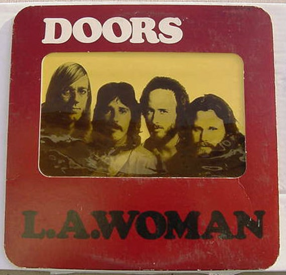 the doors l a woman 1971 original lp with die cut window jim. Black Bedroom Furniture Sets. Home Design Ideas