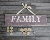 Family Celebration and Birthday Board in Weathered ECHO..........HAVENSPLACE