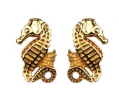 Vintage Super RARE CHRISTIAN DIOR Seahorse 60s Earrings - Classic Seapunk - Excellent to Mint Vintage Designer Jewelry