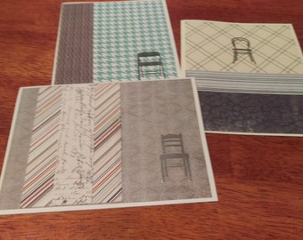 Set of 3 Architectural Note Cards