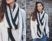 Super chunky knit fall accessories scarves cowl unisex warm wool circle wraps crochet winter infinity handmade