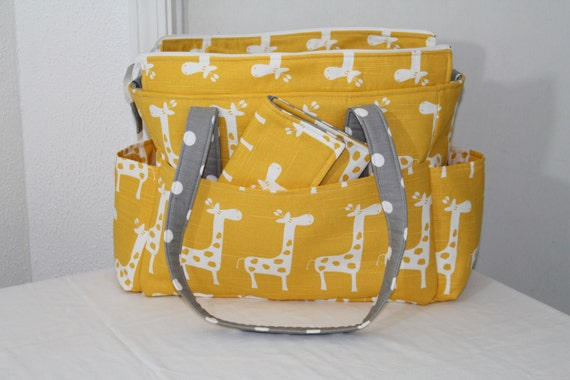 Chloe Diaper Bag Set II Premier Print Fabric by ShaLariCouture