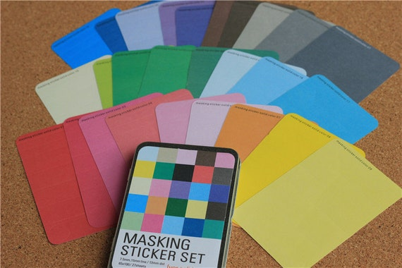 masking sticker set how to use