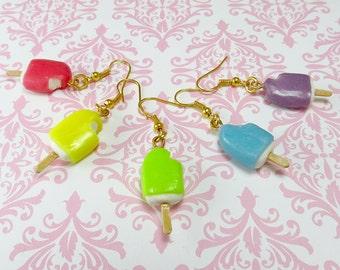 Popsicle Charm Earrings kawaii miniature food jewelry lolita cute fashion